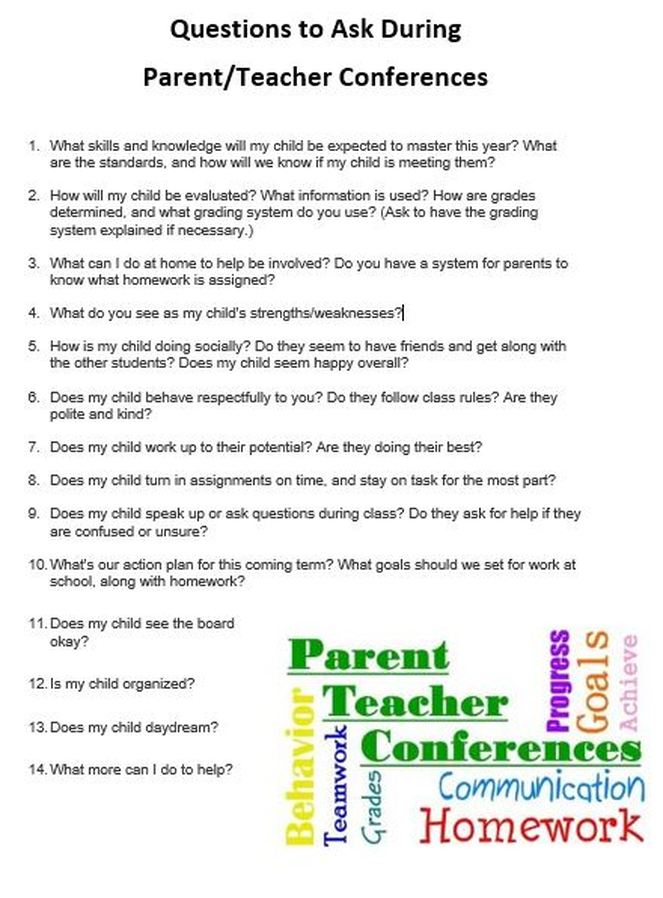 Parent Teacher Conferences Glencairn Elementary English Language
